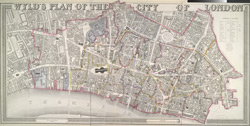 Wyld's plan of the city of London